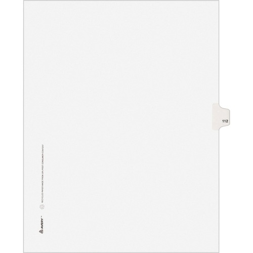 Avery Side Tab Number Individual Legal Dividers | by Plexsupply