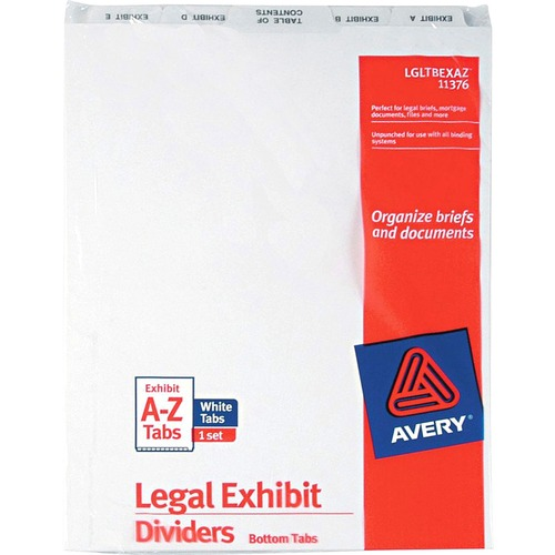 Avery Bottom Tab Legal Exhibit Divider