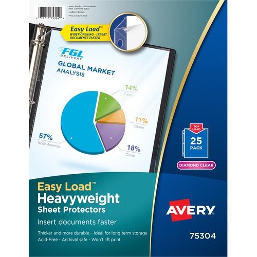 Avery Diamond Clear Heavyweight Sheet Protectors | by Plexsupply