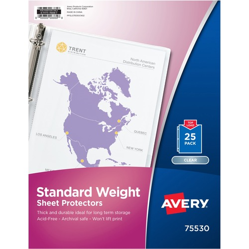 Avery Standard Weight Clear Sheet Protector | by Plexsupply