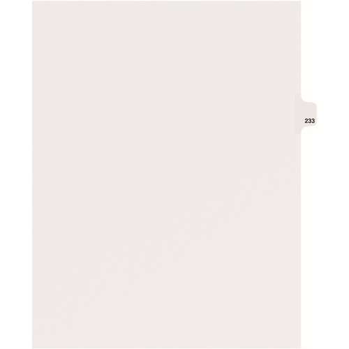 Avery Individual Side Tab Legal Exhibit Dividers