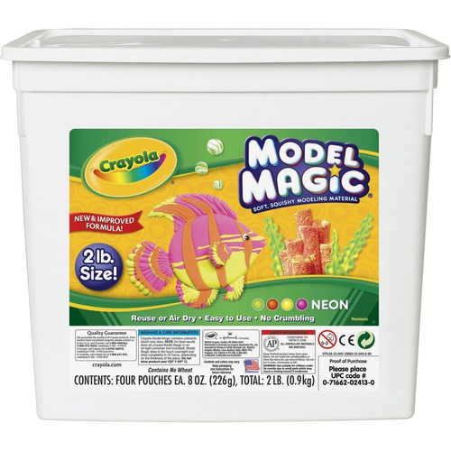 Model Magic Modeling Compound, 8 oz each/Neon, 2 lbs. | by Plexsupply