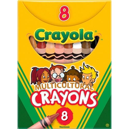 Crayola Large Regular Multicultural Crayons   by Plexsupply