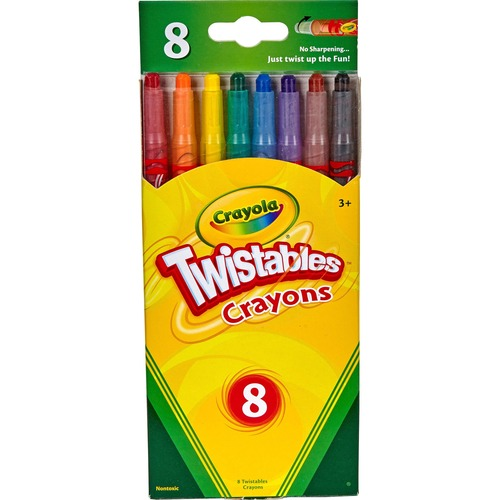 Twistable Crayons, 8 Traditional Colors/Set | by Plexsupply