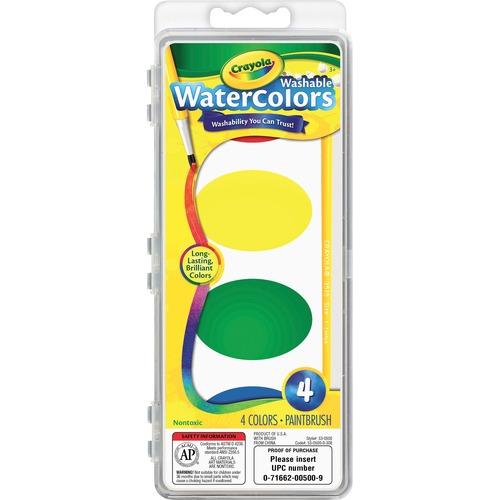 Crayola Washable Nontoxic 4 Watercolor Set | by Plexsupply