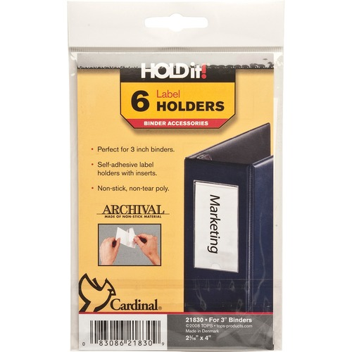 Cardinal HOLDit! Self-Adhesive Label Holders | by Plexsupply