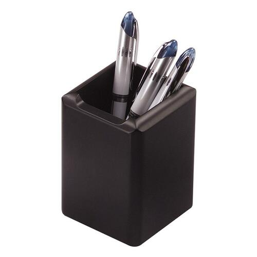 Rolodex Wood Tones Black Wood Pencil Holder | by Plexsupply