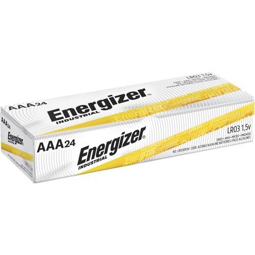 Energizer Industrial Alkaline AAA Batteries, 24 pack