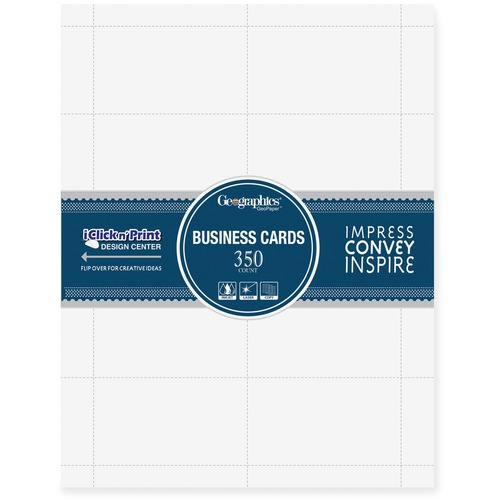 Geographics Standard Printable Business Cards   by Plexsupply