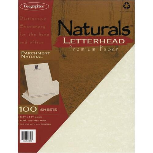 Geographics Parchment Natural Letterhead