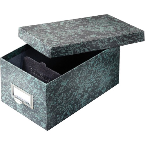 Globe Weis Agate Heavy-duty Card File Lid Box | by Plexsupply