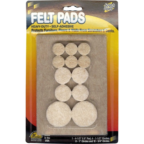 Master Caster Scratch Guard Felt Pads | by Plexsupply