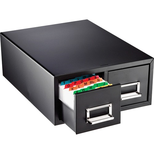Drawer Card Cabinet Holds 3,000 4 x 6 cards, 14 1/2 x 16 x 6 1/4 | by Plexsupply