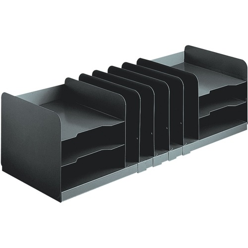 Steelmaster by mmf industries - adjustable organizer, 11 sections, steel, 30 x 11 x 8 1/8, black, sold as 1 ea