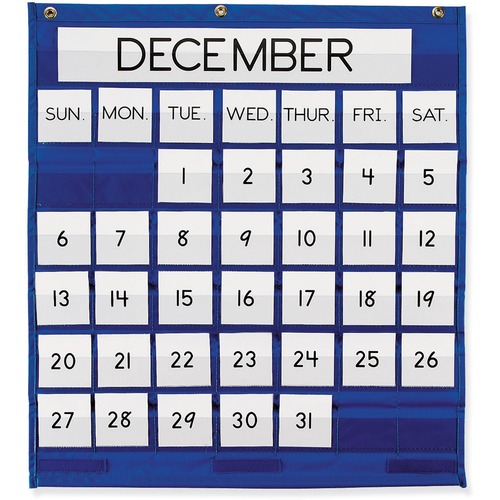 Pacon Monthly Calendar Pocket Chart | by Plexsupply