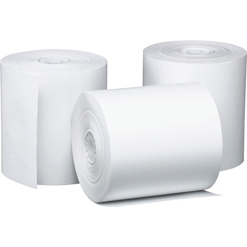 "Direct Thermal Printing Thermal Paper Rolls, 3.13"" x 230 ft, White, 50/Carton 