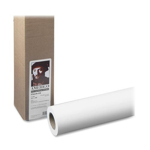 "Amerigo Wide-Format Paper, 2"" Core, 24 lb, 24"" x 150 ft, Coated White 