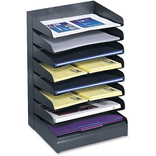 Safco Slanted Shelves Steel Desk Tray Sorter   by Plexsupply