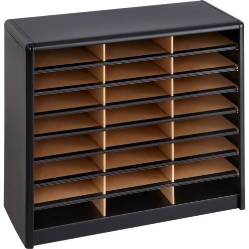 Safco 24 Compartments Value Sorter Literature Sorter