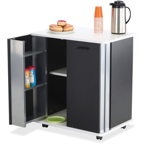 Safco Door Storage Mobile Refreshment Stand | by Plexsupply
