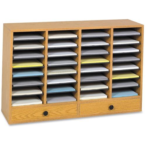 Safco 32 Compartments Adjustable Literature Organizer