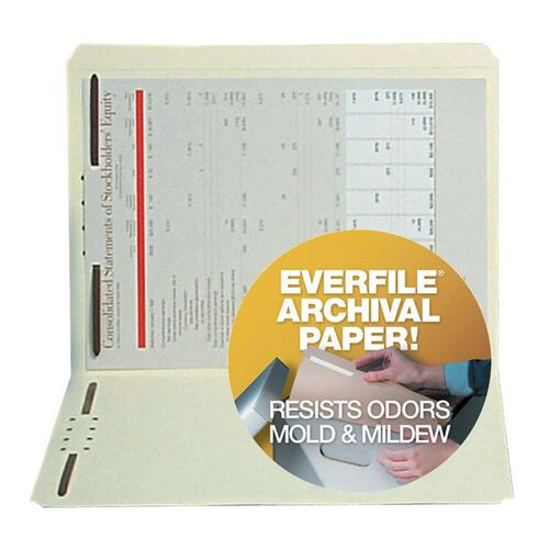 SJ Paper Archival File Folder with Fasteners
