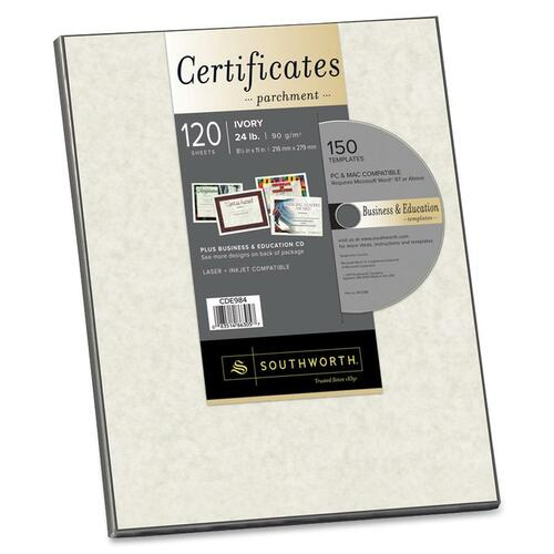 Southworth Certificate Parchment Paper with CD