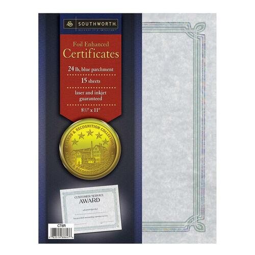 Southworth Foil Enhanced Parchment Certificates