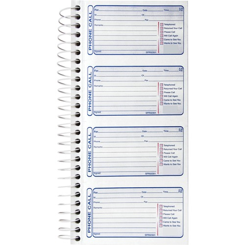 Sparco 4CPP Carbonless Telephone Message Book | by Plexsupply