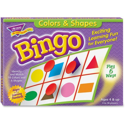 Trend Colors and Shapes Learner's Bingo Game | by Plexsupply