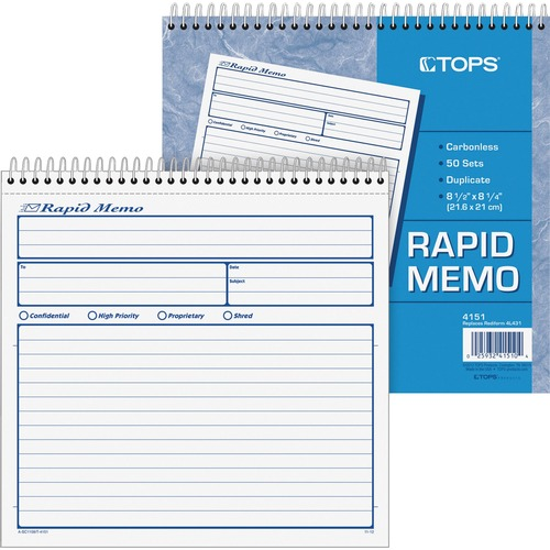 Tops Rapid Memo Book | by Plexsupply