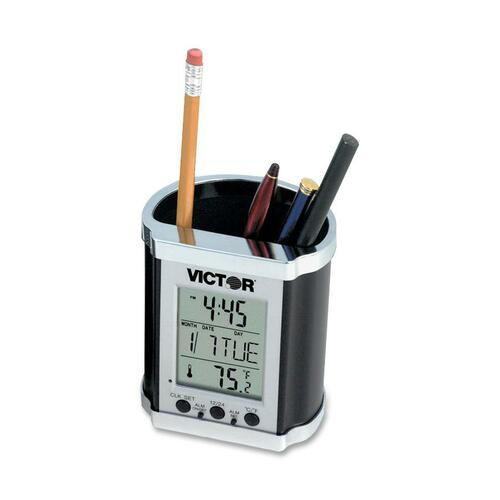 Victor Pencil Holder with Electronic Time