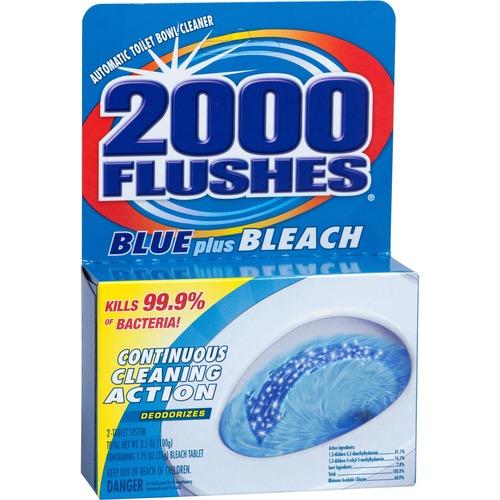 Toilet bowl cleaner, w/ bleach, blue detergents, 3-1/2 oz, sold as 1 each, 48 each per each