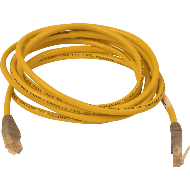 BELKIN 3FT YELLOW CAT5E MOLDED X-OVER CABLE RJ45M/RJ45M