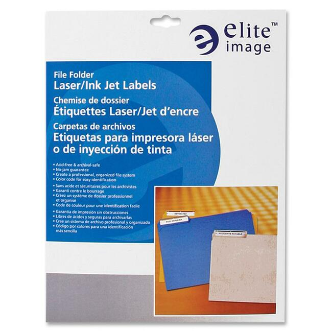 Elite Image Permanent Laser/Inkjet Filing Label
