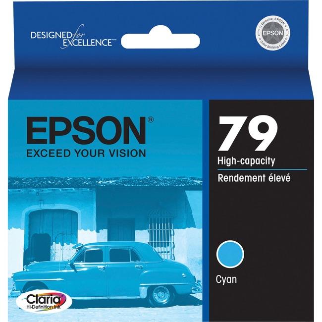 Epson 79 High-Capacity Cyan Ink Cartridge