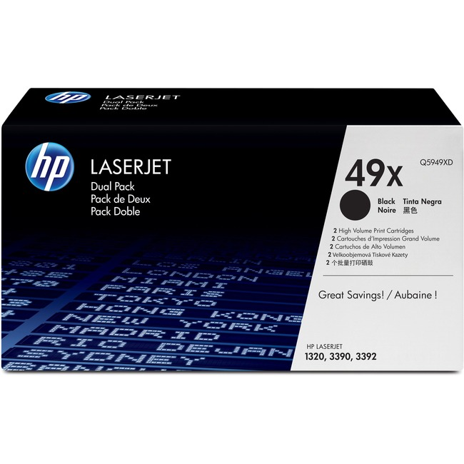 HP 49XD Dual Pack Black Toner Cartridge