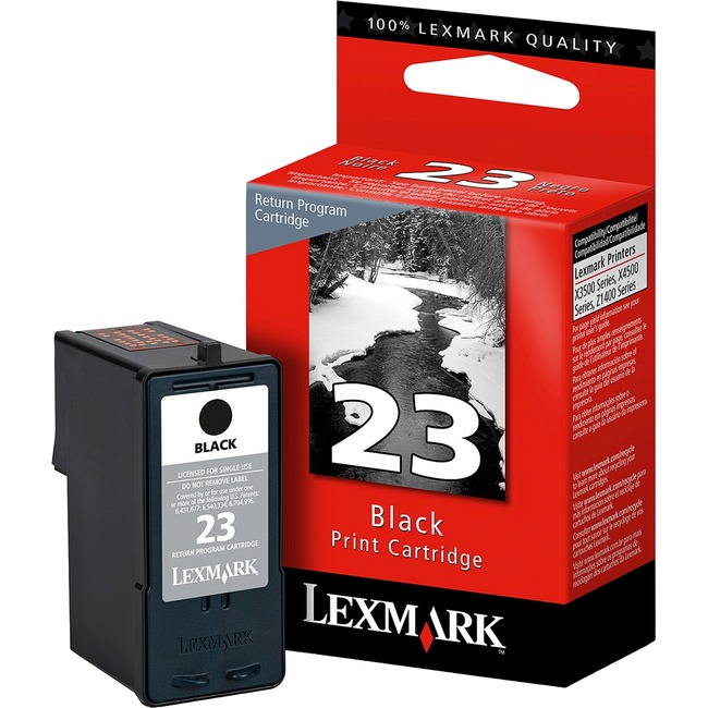 LEXMARK - CPD SUPPLIES 23 BLACK PRINT CARTRIDGE STANDARD RETURN