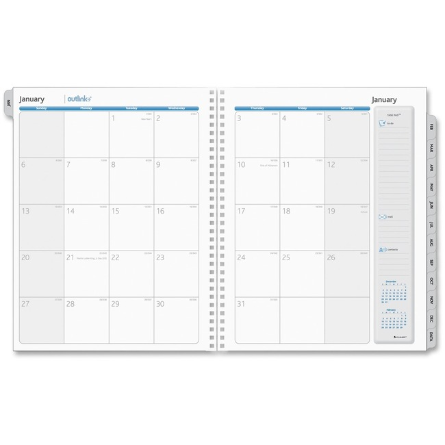 AAG70201010 At A Glance Outlink Monthly Planner Refills