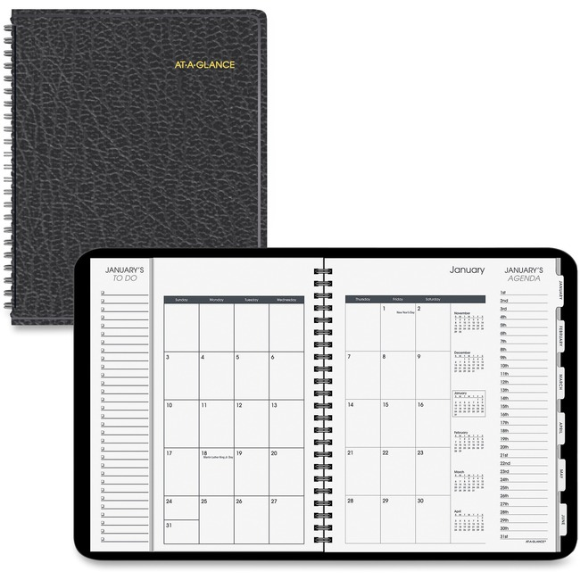 AAG70206V05 At A Glance DailyMonthly Triple View Appointment Book