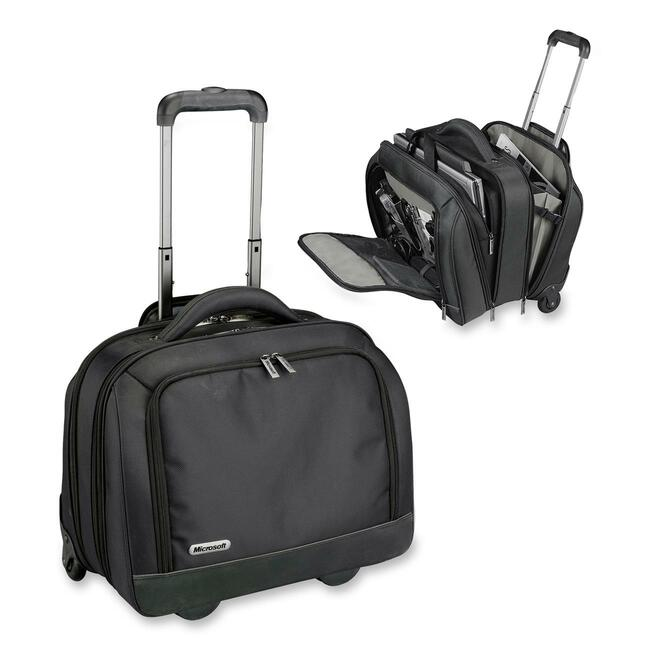 Microsoft 39203 Carrying Case (Roller) for 15.6&quot; Notebook - Black