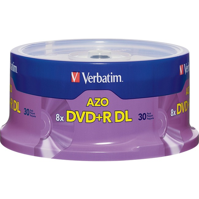 Verbatim 96542 DVD Recordable Media - DVD+R DL - 8x - 8.50 GB - 30 Pack Spindle