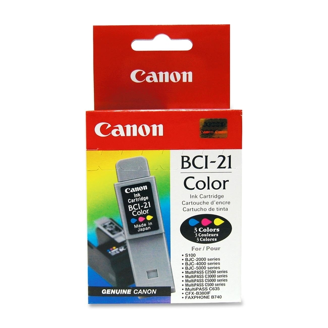 Canon BCI-21Clr Tri-color Ink Cartridge