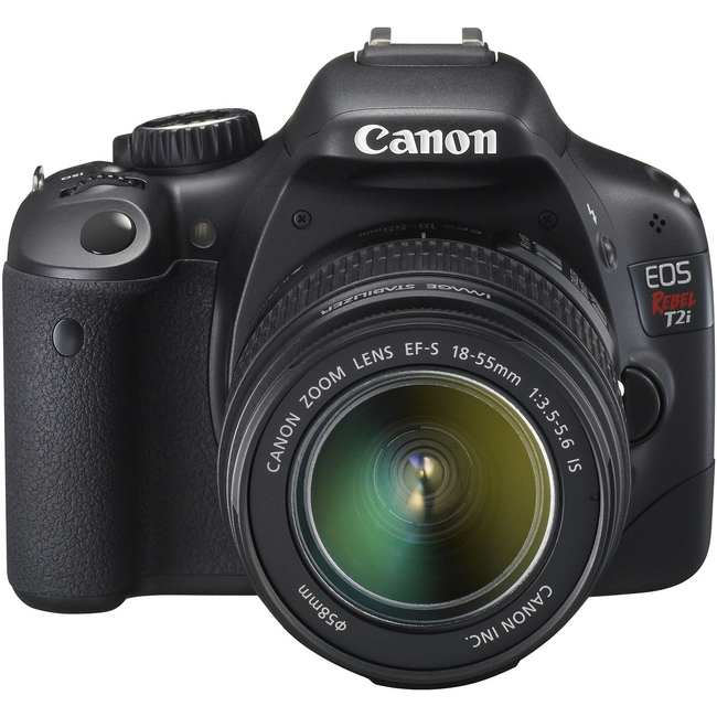 Canon EOS Rebel T2i 18 Megapixel Digital SLR Camera (Body with Lens Kit) - 18 mm - 55 mm