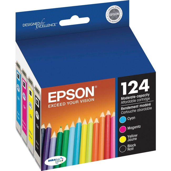 EPSON - SUPPLIES DURABRITE ULTRA MODERATE CAP BLACK AND COLOR COMBO PACK