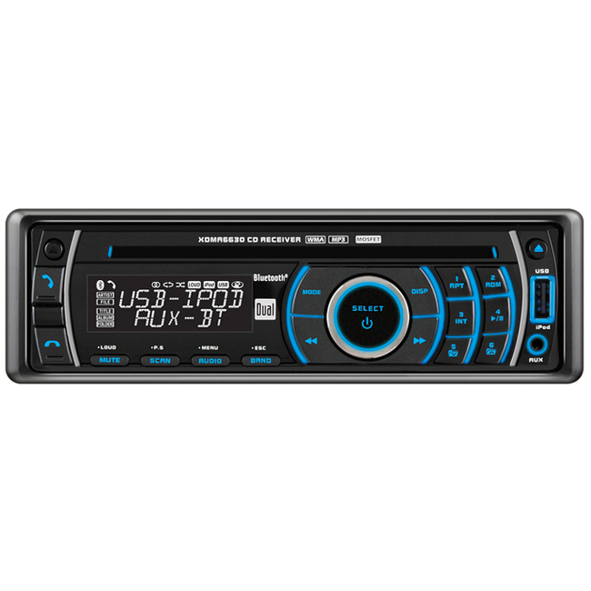 Dual XDMA6630 Car CD Player - 240 W RMS - iPod/iPhone Compatible - Single DIN