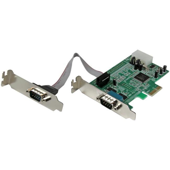 StarTech.com 2 Port Low Profile PCI Express Serial Card | 16550
