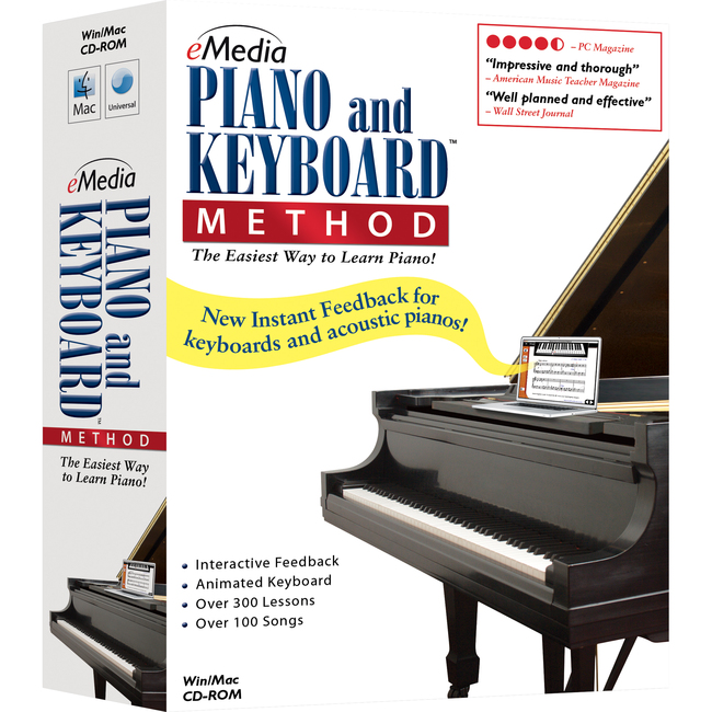Emedia Music Piano and Keyboard Method v.3.0 - Complete Product - 1 User