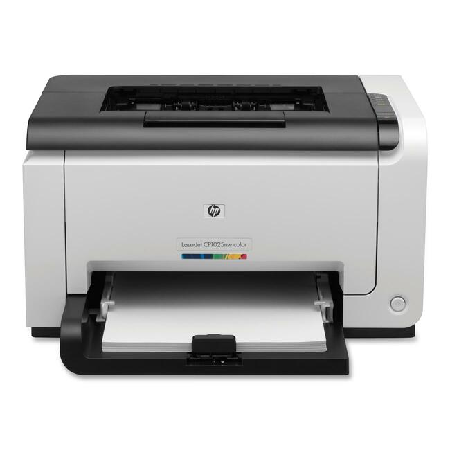 HP LaserJet Pro CP1025 CP1025NW Laser Printer - Color - 600 x 600 dpi Print - Plain Paper Print - Desktop