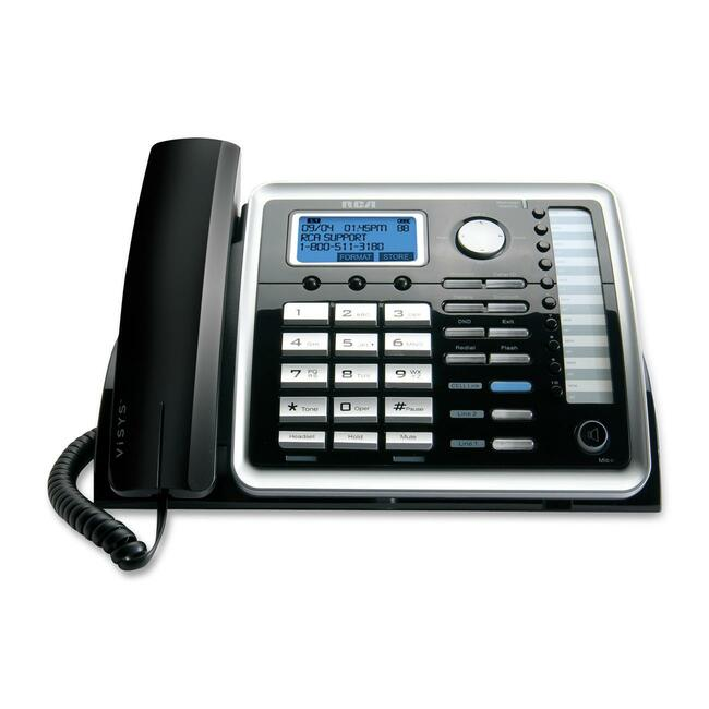 RCA ViSYS 25216 Standard Phone - Silver, Black